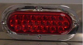 Oval Pearl LED Red